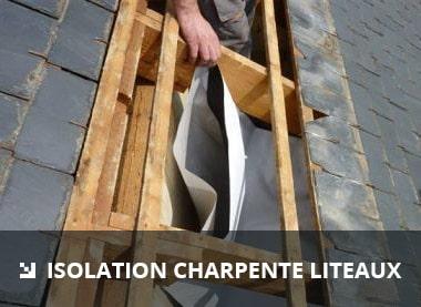 isolation charpente liteaux